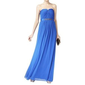 Adrianna Papell Strapless Evening Gown Blue 6